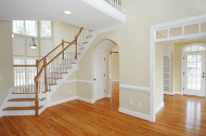 Home Interior with Wood Floors